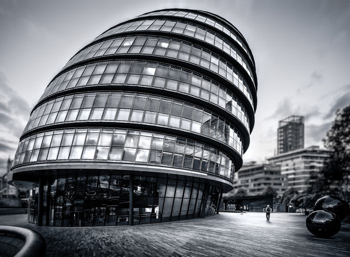 London's City Hall. Architecture Building Built Structure Capital Cities  City City Hall City Life City Street Cloud Cloud - Sky Day Façade Huge Land Vehicle London Modern Office Building Outdoors Shape Tall - High The Architect - 2016 EyeEm Awards The Way Forward Tourism Travel Destinations Weird