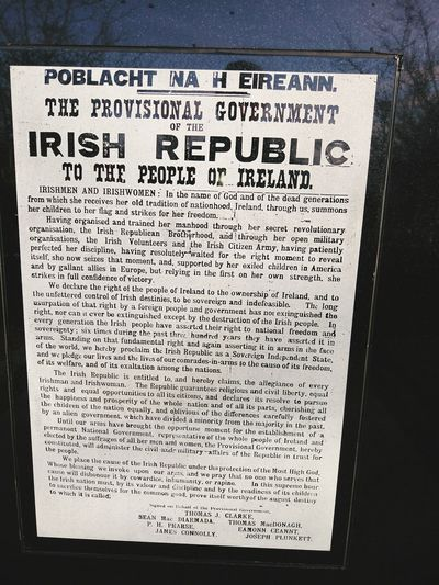 History No People Close-up Paper Day 1916proclamation 1916rising Dublin Letterkenny