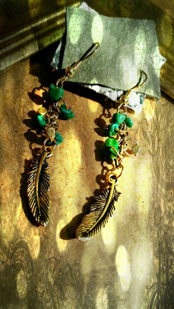 Antique Fashion&love&beauty Handmade Jewellery Turquoise Feather  Accessories My Handmade