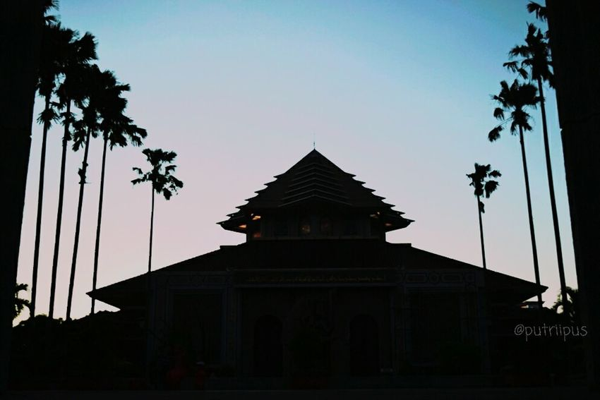 Architecture Tree Silhouette Dusk Sunset Travel Destinations Religion Sky Travel Built Structure Business Finance And Industry Arrival Ancient No People Statue Building Exterior Outdoors Day City King - Royal Person