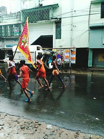 Running With Holy Flag