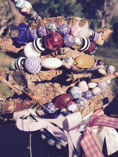 jewelry three Pink Rosé Blue Jewellery Purple Violet Perles Perle Bijou Colier Bracelet Nature Jardin Garden Three Jewelry Large Group Of Objects Variation Day Close-up Outdoors No People