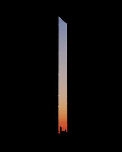 slice of light Sky Architecture Copy Space Silhouette Night Built Structure Illuminated No People Outdoors Dark Orange Color Building Sunset Light - Natural Phenomenon Clear Sky Capture Tomorrow