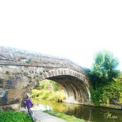 Under the bridge ... Bridge Kanal Riverside Rivercruise Canals BritishSummerTime Summertime Haslampark Preston Lancashire Uk GB Cycling Bycicle Nature August2015 Landscape Landscape_lovers Jembatan 15