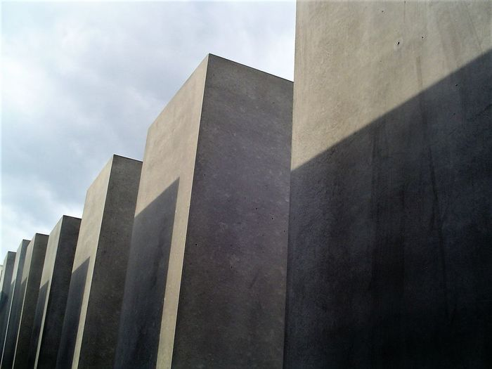 Architecture Building Exterior Built Structure Capture Berlin City Concrete Blocks Day Holocaust Mahnmal Holocaust Memorial Light Light And Shadow Low Angle View Modern No People Outdoors Sky