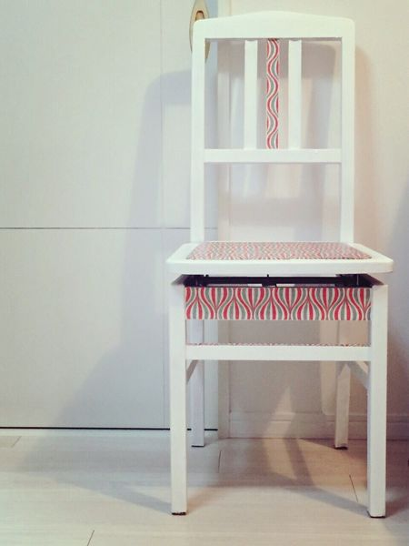 Interior Design DIY Paint Piano Chair Remake White 60s Interior Decorating