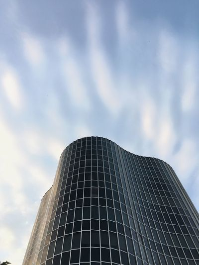 Barcelona Trade Tower Sky Low Angle View Cloud - Sky Built Structure Nature Architecture Building Exterior Office Building Exterior Modern Office