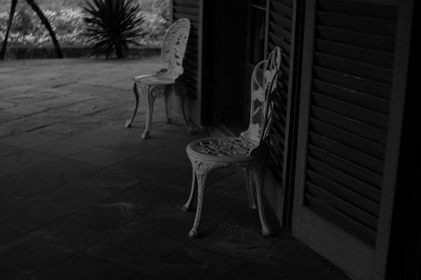 So close but so far Pancolar 50mm F2 Carl Zeiss Jena Fuji X-T1 FUJIFILM X-T1 Street Photography Street Black And White Photography Black And White Chairs Chair