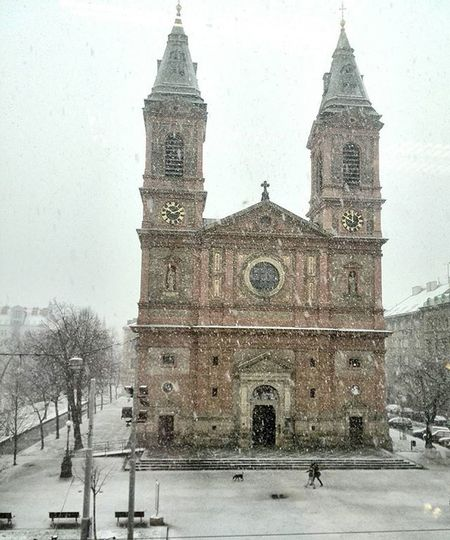 Zima Snih Kostel Snezi Praha Czech Igerscz Nas_svet Winter Snow Prague Church