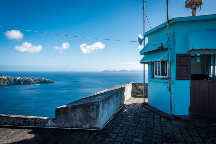 Fort Charlotte, St. Vincent. Fort Charlotte Kingstown St. Vincent St. Vincent & The Grenadines, Carribean St.Vincent Architecture Building Exterior Built Structure Cloud - Sky Horizon Over Water Mountain Nature Nautical Vessel Outdoors Sea Sky Travel Destinations Water