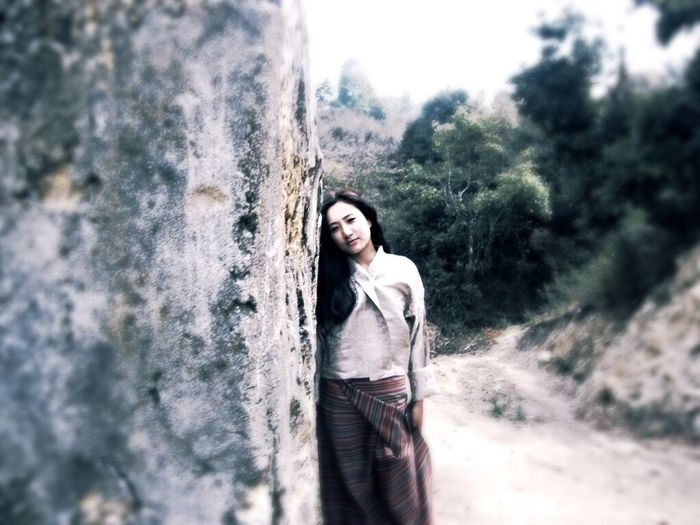Going Around With Friend IPhoneography Nice Day Bhutan Taking Photos Brick Wall Girl Lonely Friends ❤ Sunny☀ it was fun.