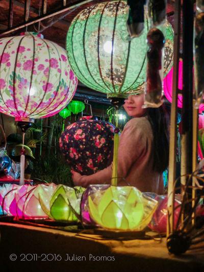 Julien Psomas Ancient City Colour Colours Coulourful Girl Hoi An Hoian  Lantern Natural Light Nightphotography Vietnam