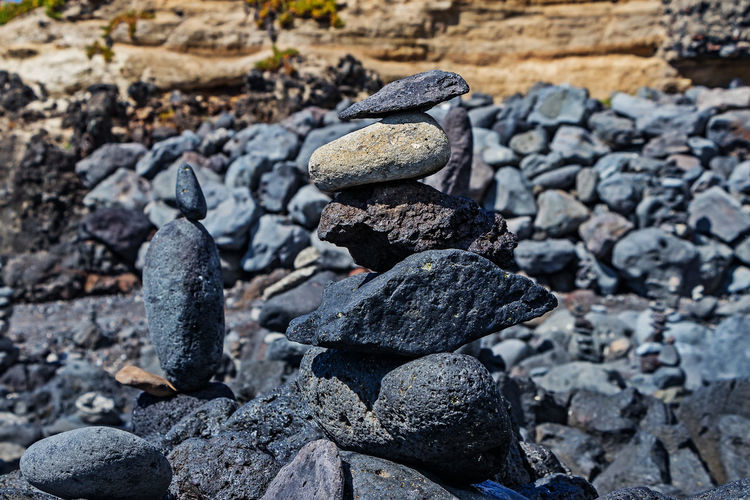 mosteiros beach Balance Close-up Day Focus On Foreground Nature No People Outdoors Pebble Rock Rock - Object Rough Solid Stack Stone Stone - Object Textured  Zen-like