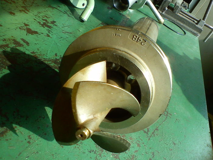 Gold Green Mechanical Pump Suction Sunny Work Workshop Blades Brass Cooper Eye Impeller O Ring Party Shadow Shaft Workbench