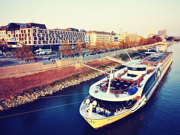 Danube Riverside Boat Cruise City Water Cityscape Sky Architecture Building Exterior