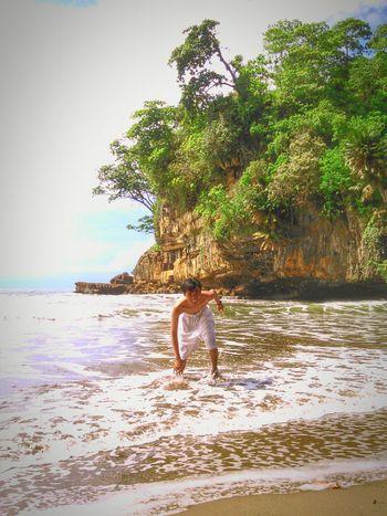 Pelang beach trenggalek east java indonesia