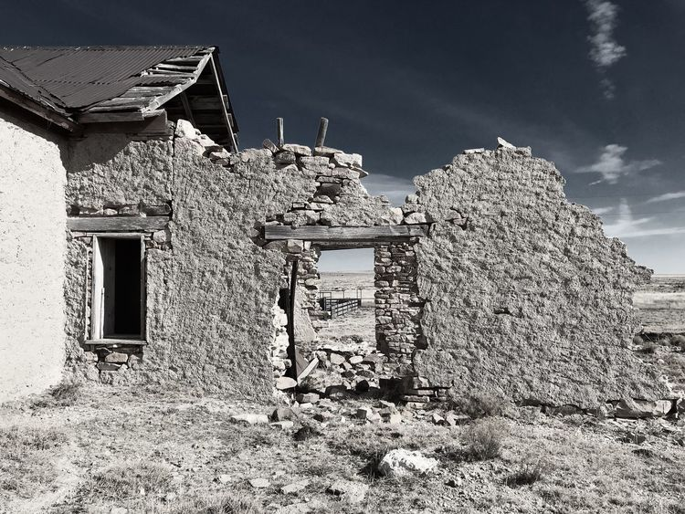 """Mystery Ranch No. 20"" Last Stand. Old Ruin New Mexico Photography New Mexico Crumbling Abandoned & Derelict Abandoned Buildings Abandoned Places Abandoned Architecture Built Structure Building Exterior House No People Sky Abandoned"