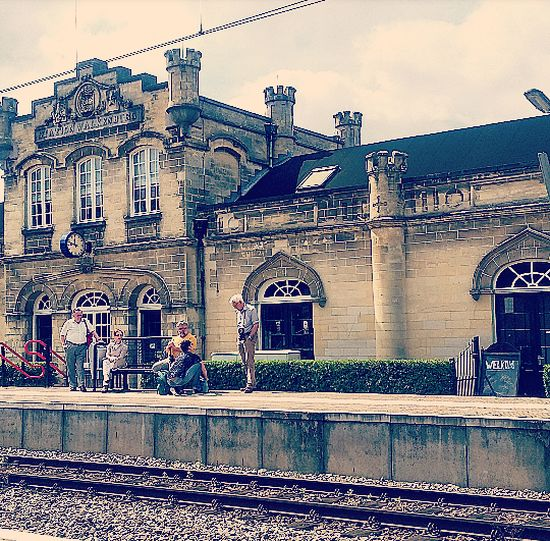 Station Valkenburg Streetphotography Railroad Station Built Structure Historical Building Public Transportation Fresh On Eyeem  Canon EOS 1300D City Life On The Way People Together