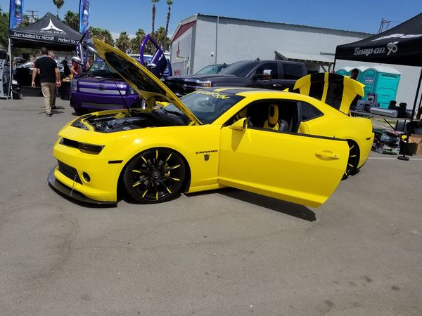 Yellow Car Transportation Outdoors Chevynation Chevycamaro S8+ Taking Photos