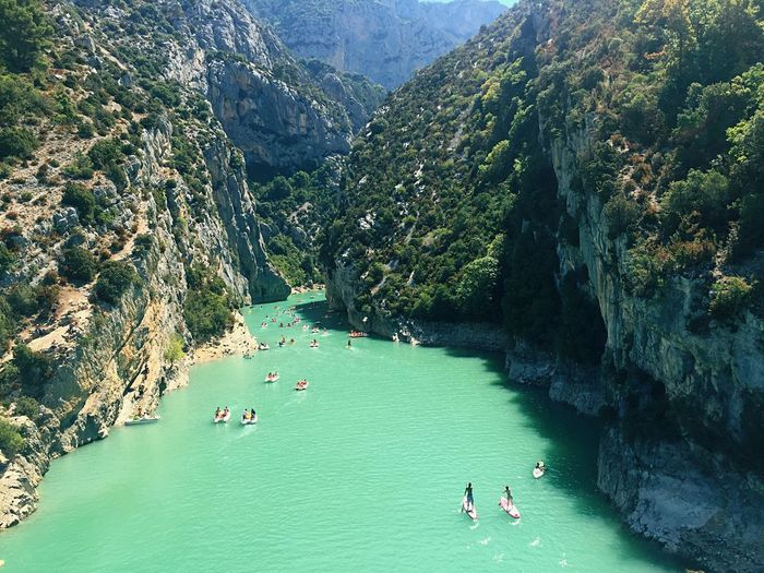 What's On The Roll Verdon Gorge Provence Holiday Summertime Beauty In Nature Beautiful Nature Landscape River Green Amazing View Nature Photography View From Above Enjoying The View OpenEdit France