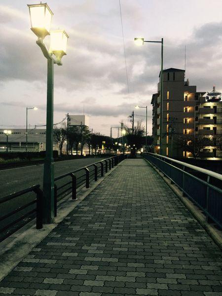 Bridge Riverside Dusk Nostalgia Long For Return To Innocence Mukogawa river Japan