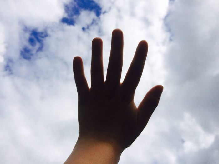 Human Hand Sky One Person People Day 🎈👻