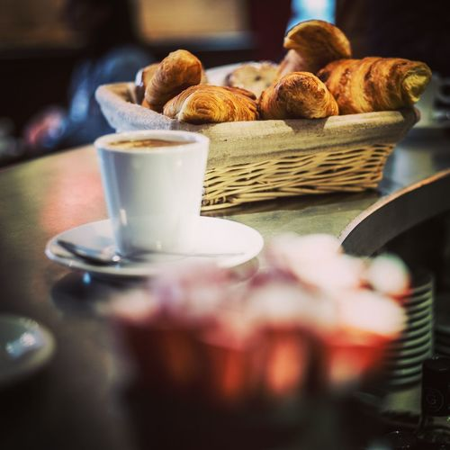The Week on EyeEm Morning Hour Selected For Premium Backing Breakfast In Paris Breakfast Pariscafe Calories Espresso Espresso Croissant Table Food Indoors  Coffee Freshness Coffee Cup Baked Hot Drink Coffee - Drink Selective Focus Coffee Cup