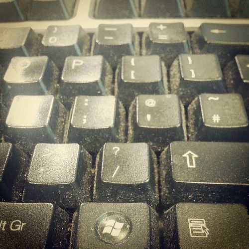 Work keyboards are not clean. Dirty Unhygienic Dusty Work Keyboard Needtoclean Gross