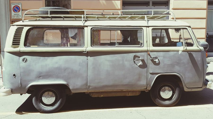 Vwwagon Window Mode Of Transport Motor Home No People Outdoors Vintage Patina