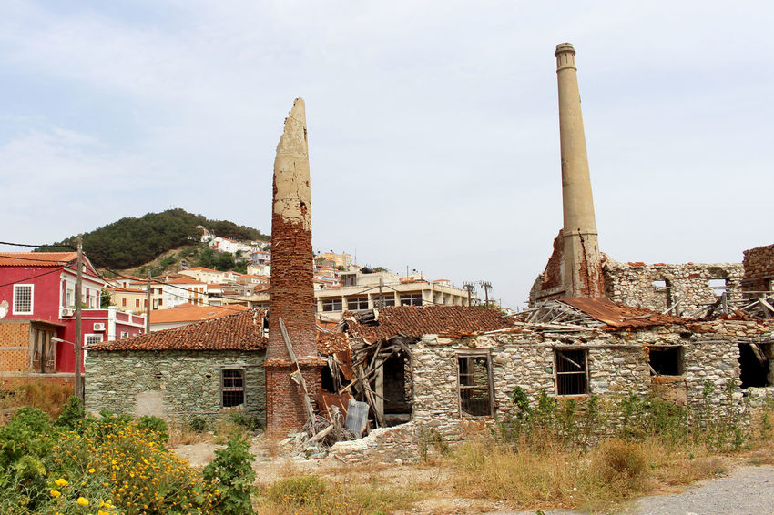 Abandoned Abandoned & Derelict Abandoned Buildings Abandoned Places Abandonedbuilding Abandonedplaces Deterioration Factory Factory Building Factory Chimney Greece History Lesbos Lesvos No People Old Ruined Run-down