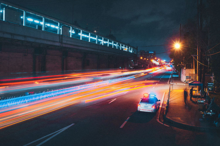 Above the law EyeEm Best Edits EyeEm Best Shots Eyeem Philippines Magallanes  Manila, Philippines Patrol  Philippines City Cop Light Trail Long Exposure Motion Night Philippine National Police Pnp Police Police Car Road Speed Street Street Light Traffic Transportation Urban Scene