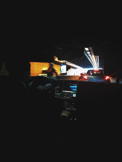 Man using illuminated at night