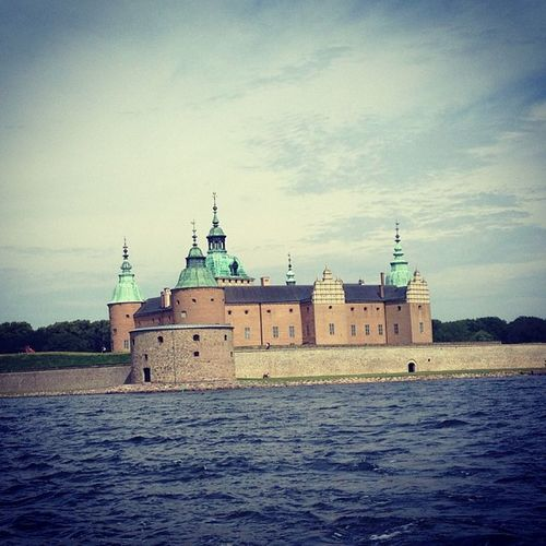 Taking a Boatride in and around Kalmar on Flundran Kalmarsommar . We had a guide that was both hilarious and a bit nuts. Kudos to him.