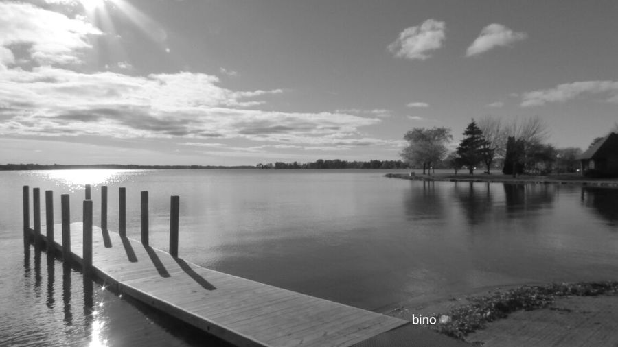Out Walking No People Around The Lake From The Pier Cloud - Sky Quiet Moments Black And White Photography Beautiful View Lake Cadillac Pure Michigan