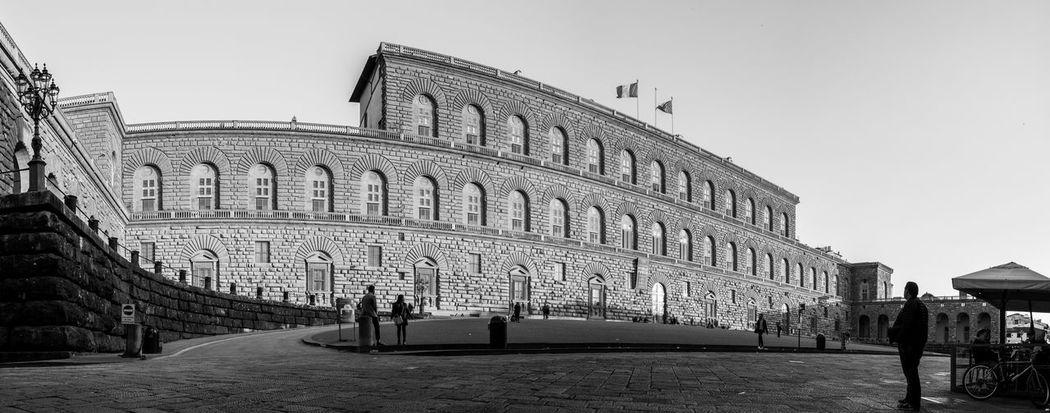 Palazzo Pitti, Florence Firenze Florence Italy Panorama Toscana Tuscany B&w Black And White Blackandwhite Florence Italy Palazzo Pitti Street Streetscape