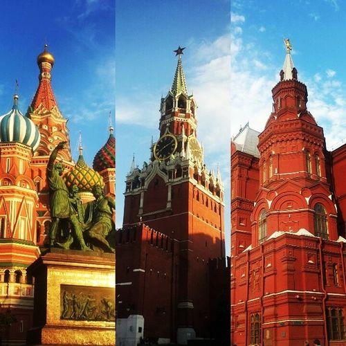 И тут я поняла, что влюбилась. Москва - сердце нашей Родины !