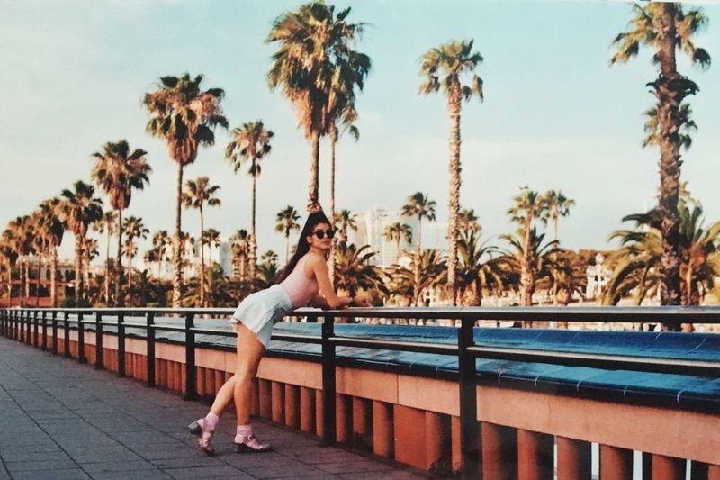 hey boo Woman Palm Trees Sunny Golden Hour Beach Beachlife Eyeemphoto