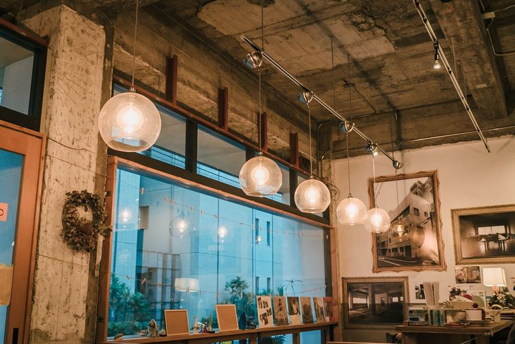 Lighting Equipment Hanging Indoors  Illuminated Decoration No People Ceiling Pendant Light Restaurant Large Group Of Objects Light Business Electric Light Built Structure Bar - Drink Establishment Architecture Low Angle View Chandelier Electric Lamp Night