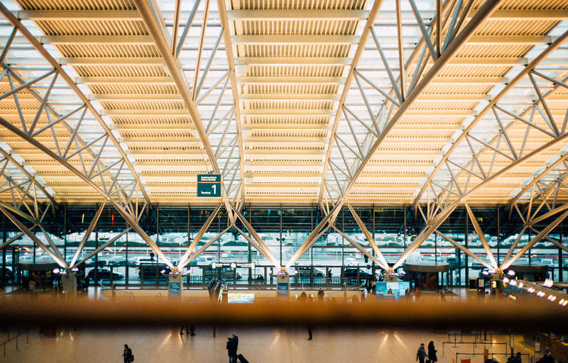 Airport Architecture Built Structure City Day Hamburg Indoors  Large Group Of People People Railroad Station Railroad Station Platform Real People Transportation VSCO