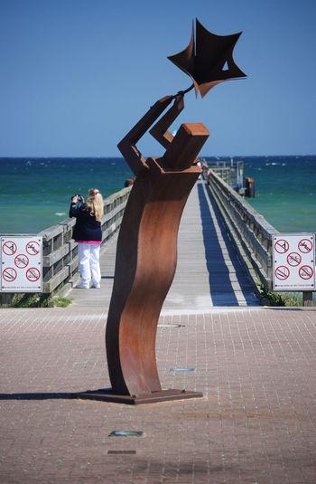 Art And Craft Kreis Plön Schleswig-Holstein Schönberger Strand Seebrücke Germany Horizon Kunst Nature Outdoors Railing Schleswig Holstein Schleswigholstein Schönberg Sculpture Sea Seabridge Sky Water