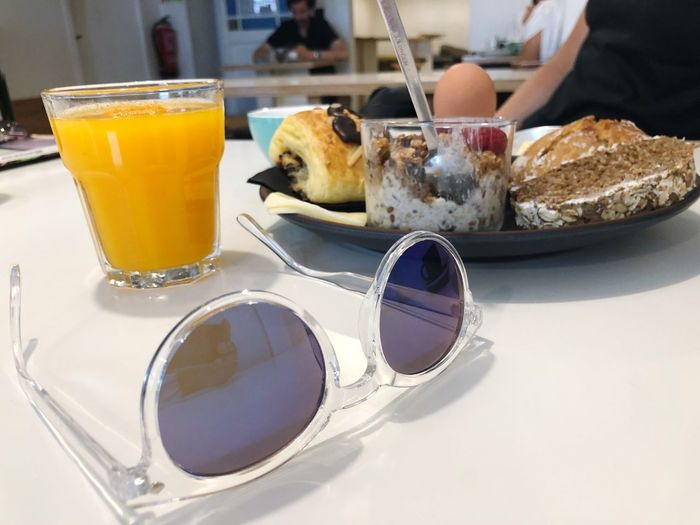 Take a little break Holiday Vacation Life Enjoy Lisbon Sunglasses EyeEm Selects Food And Drink Food Drink Freshness Table Refreshment Breakfast Healthy Eating
