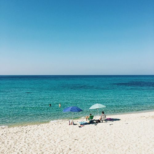 Corsica, France Umbrella Summertime Summer Europe France Corsica Sea Water Beach Land Horizon Over Water Sky Horizon Sand Blue Holiday Nature Scenics - Nature Day Beauty In Nature Vacations Trip Tranquility Outdoors Relaxation