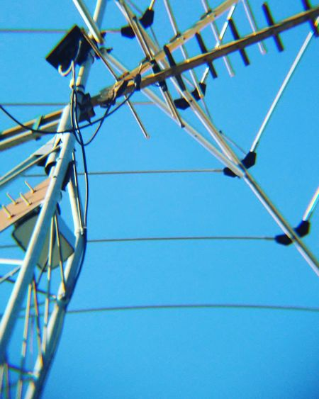Low Angle View Antenna Sky Clear Sky Outdoors