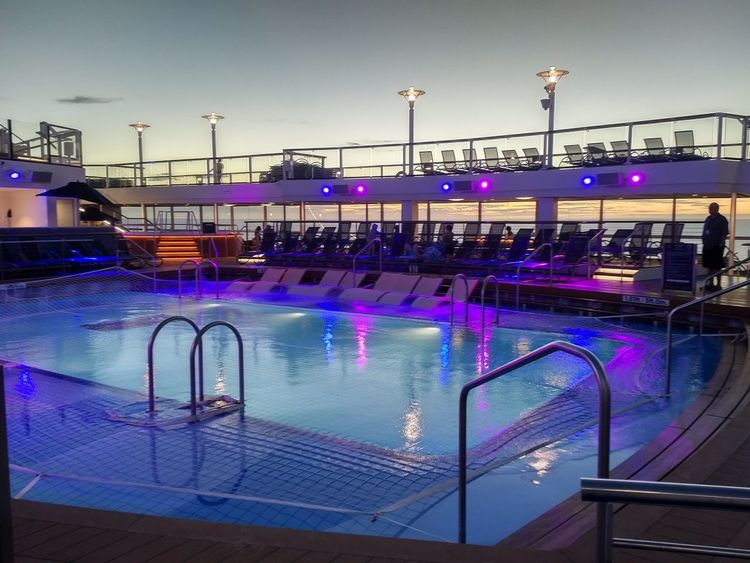 Dusk Night Water Swimming Pool