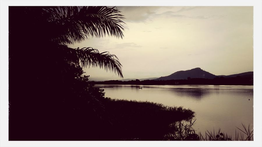 The Volta Lake in Ghana. Taking Photos