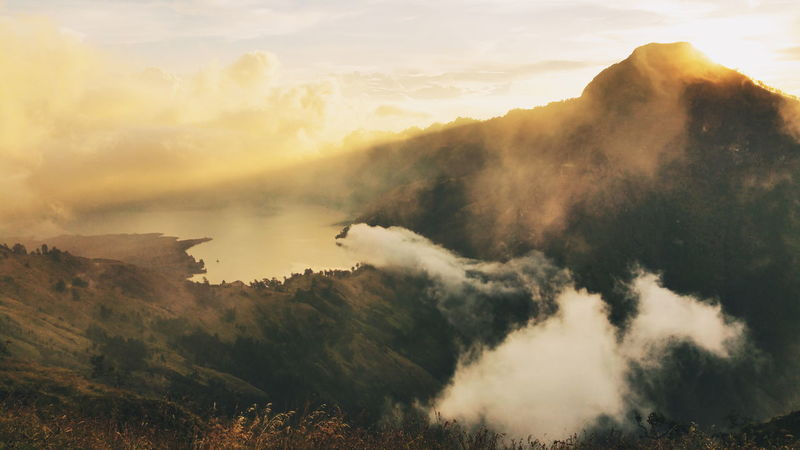 Mt.Rinjani Volcano Lake Volcano Lombok Clouds And Sky Sunset Crater Rim Scenery Shots INDONESIA Magnificent View EyeEm Best Shots Popular Photo Hiking This View Mountain Travel Photography Taking Photos Hiker 43 Golden Moments