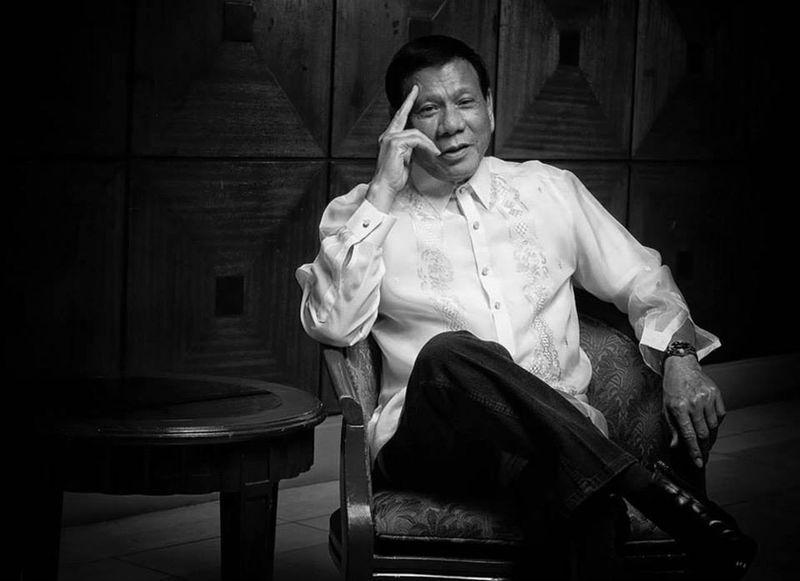 Portrait of Davao City Mayor Rodrigo Duterte. Portrait Blackandwhite Mayor Davao City First Eyeem Photo