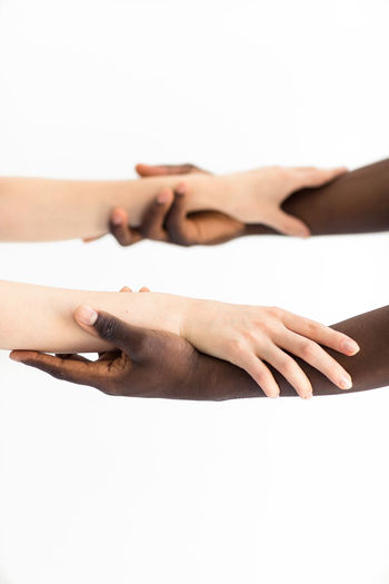 Hold me tight Beauty Close-up Couple Couple - Relationship Friends Friendship Hand Hands Holding Holding Hands Human Body Part Human Hand Interracial Love Love Palms People Relationship SUPPORT Teamwork White Background EyeEmNewHere
