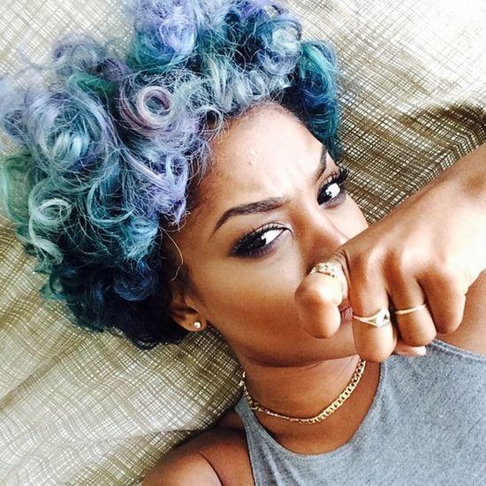 Colorful Hair Selfie Beautiful Perfect