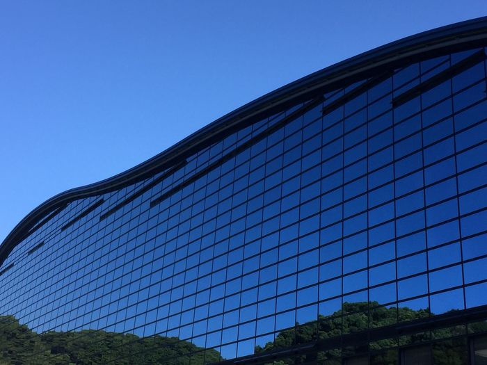 Architecture Clear Sky Low Angle View Day Built Structure No People Blue Outdoors Sport Sky Building Exterior Modern Tree Close-up City 九州国立博物館 Museum